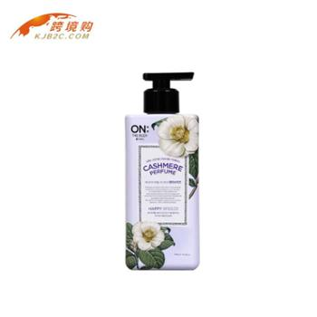 韩国LG THE BODY 小苍兰混合花香身体乳液(400ml)